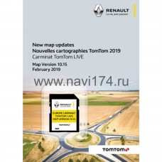 Renault Carminat TomTom Live Россия + Европа SD card Map Version 10.15 2019/2020