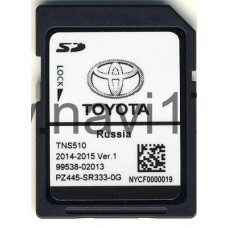 Toyota Navigation SD card for TNS510 - 2014/2015 Ver.1 (Россия) PZ445-SR333-0G, 99538-02013