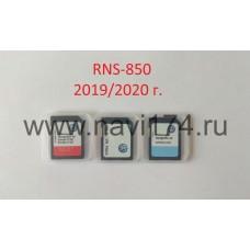 Volkswagen Touareg RNS-850 Карты  Россия + Европа 2019г. v13